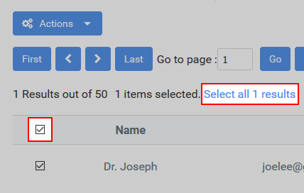 Select invalid filtered results