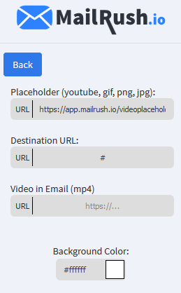 video email options