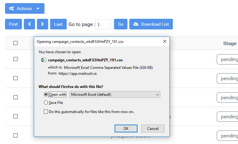 contact list management